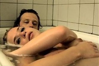 Danish actress Lea Baastrup shows perky tits in bathtub