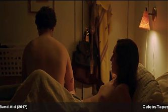 Zoe Lister-Jones see through bra and panties